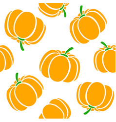 cartoon pumpkins on a white background simple vector image