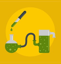 chemical pots icon flat style vector image