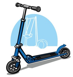 children scooter vector image