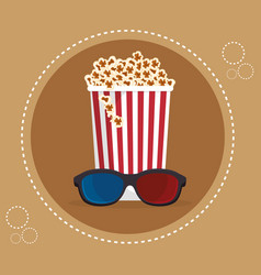 Cinema pop corn entertainment icon vector