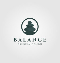 Circle stone balance logo design vector