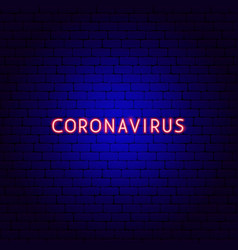 coronavirus neon text vector image