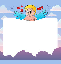 Cupid thematics frame 2 vector