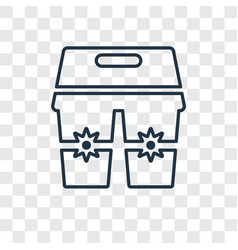 cups concept linear icon isolated on transparent vector image