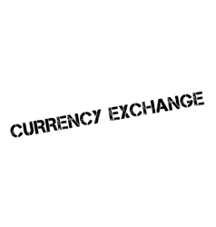 Currency Exchange rubber stamp vector