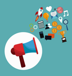 Digital marketing megaphone concept vector