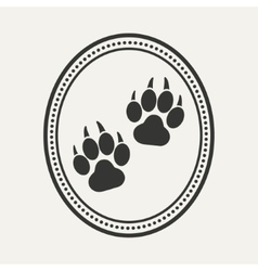 Dog pet logo vector