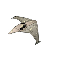 doodle spaceship on black vector image