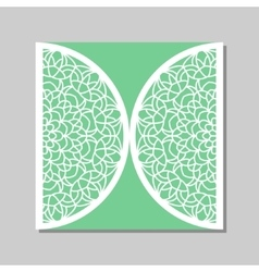 Envelope template with mandala lace ornament vector image