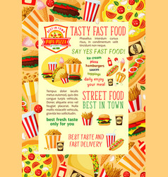 Fast food restaurant lunch banner template design vector