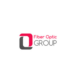 fiber optic group badge vector image