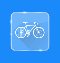 Flat style bicycle silhouette icon vector