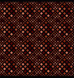 Geometrical dark brown seamless square pattern vector