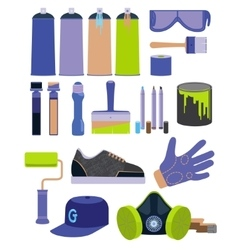 Graffiti tools set vector