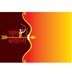 Happy dussehra festival poster design vector