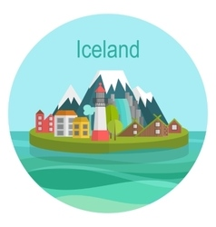 Iceland Landmark Travel vector