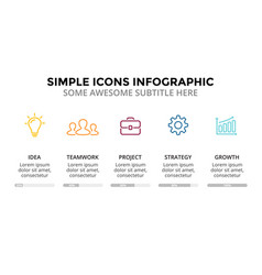 Icons minimal infographic text diagram vector