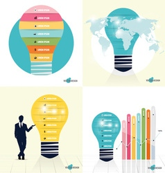 Infographic design template Businessman showing vector image