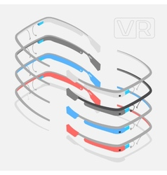 Isometric augmented reality glasses vector