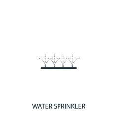Lawn sprinkler icon simple gardening element vector