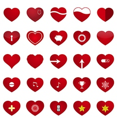 Love Heart Set vector image