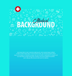 medical background medical care health care vector image
