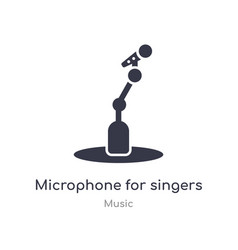 Microphone for singers outline icon isolated line vector