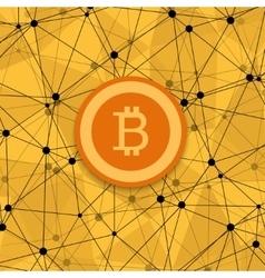 modern concept bitcoin new money vector image