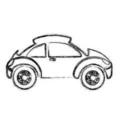 monochrome sketch with sport car vector image