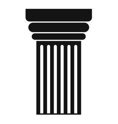 museum pillar icon simple style vector image