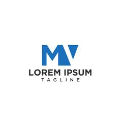 mv negative space logo vector image