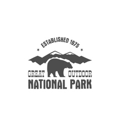 National park old style badge Mountain explorer vector image