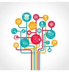 Online Education Tree vector