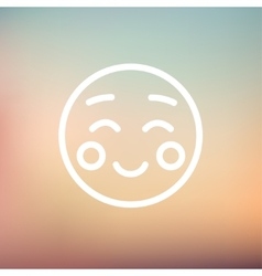 Overjoyed thin line icon vector image