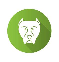 Pit bull flat design long shadow glyph icon vector