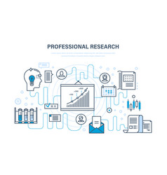 professional research business planning strategy vector image