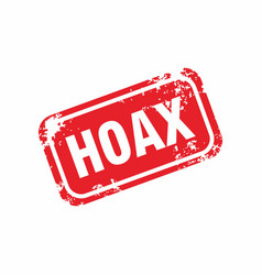Red grunge stop hoax label stamp vector