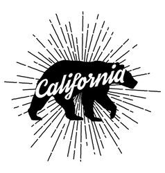 Retro california logo vector