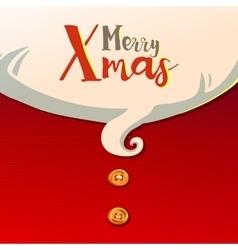 Santas beard and typography greetings vector image