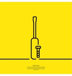 Screwdriver with bolt vector