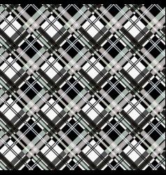 Seamless tartan plaid pattern in black white vector