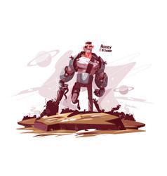 star ranger at battlefield vector image