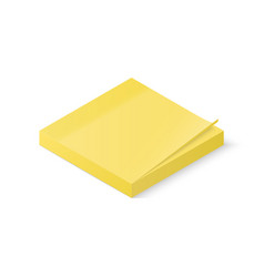 sticky paper notes stack isolated on white vector image