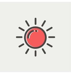 Sun thin line icon vector image