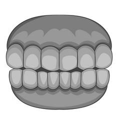 Teeth icon monochrome vector