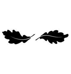 Two oak leaves vector