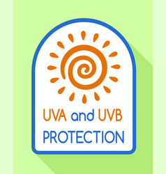 Uvb protection logo flat style vector