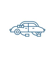 wedding car line icon concept wedding car flat vector image