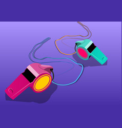 whistles vector image