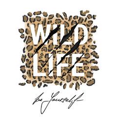 wild life typography t-shirt design vector image